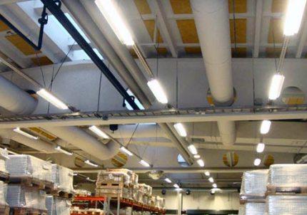 Промышленные светодиодные светильники Кривая силы света Г 30°